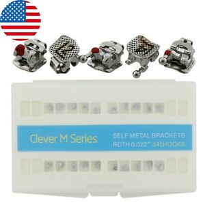 Us 20pc Dental Orthodontic Interactive Self ligating Bracket Metal Roth Slot 022