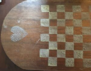Antique Checkerboard One Board Hand Painted