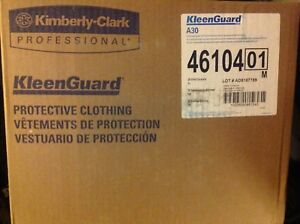 Case Of Xl Kleenguard A30 Breathable Splash Particle Protection Coveralls 46104
