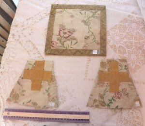 3 Pcs Of Antique French Or Italian 18thc Silk Metallic Brocaded Chalice Covers