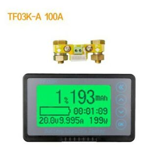 Battery Monitor Coulomb Meter Dc 120v 100a Capacity Tester Lithium Lead acid Car