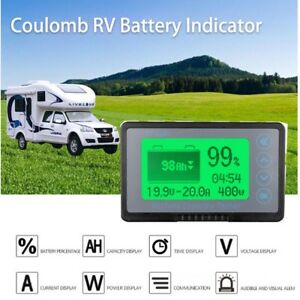 50a Coulomb Meter Battery Monitor Ah Soc Car Rv Remaining Capacity Lead acid 12v