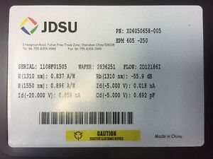 Jdsu C band Pass Band Low Leakage Pin Photodiode Pd Epm 6xx Series Edfa Dwdm