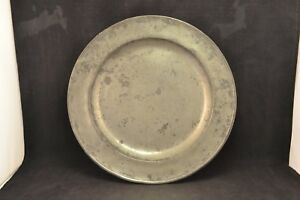 19th Century 13 1 2 Pewter Charger Nd3033
