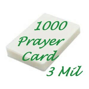 1000 Prayer Card Laminating Pouches Sheets 3 Mil 2 3 4 X 4 1 2 Scotch Quality