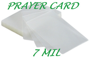 1000 Prayer Card Laminating Pouches Sheets 7 Mil 2 3 4 X 4 1 2 Quality
