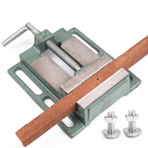 Cast Iron Flat Drill Press Vise Woodworking Drilling Clamp Tool 2 5 3 4 5 6