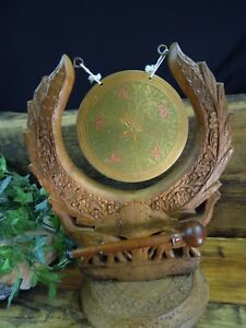 Wood And Brass Dinner Gong With Striker