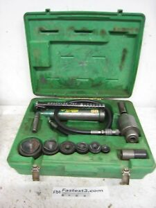 Greenlee 7306 Hydraulic Knockout Punch And Die Set 1 2 To 2