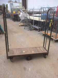 U Boat Stock Carts Used 4 Grocery Store Stocking Metal Wood Cart Industrial