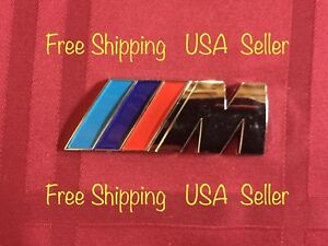 Car Emblem M Power Silver Side Badge 3d M Sticker For Bmw M3 M4 M5 M6