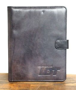 9 5 x11 5 Vtg Polish Airlines Brown Leather Snap Card Holder Planner Portfolio