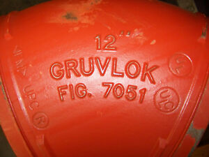Gruvlok 12 Fig 7051 45 Deg Elbow 323 9 Mm Od Grooved End Pipe Fitting New