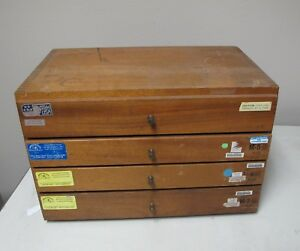 Meyer Gage Makers For The World Pin Set 75 1 00 W Wooden Case 250 Pcs Rare