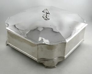 Sterling Jennings Silver Co Lidded And Footed Box