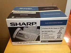 Sharp Ux p100 Plain Paper Fax Brand New In Sealed Box