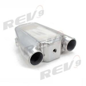 Rev9 V3 Universal Polished Water To Air Intercooler Type 3 9x9x9 300 500hp