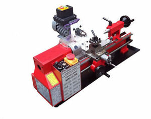 220v Mini Wood Metal Lathe Machine Woodworking Drilling Diy Tool Reaming Tapping