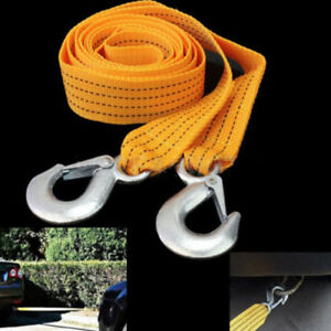 Car Road Tow Rope Cable Towing Strap Emergency Heavy Duty 3 Tons New