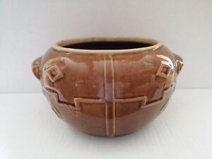 Art Deco Western Stoneware Monmouth Aztec Or Mayan Pot Bowl Jar Native American