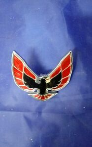 1974 1976 Pontiac Firebird Trans Am Front Nose Emblem Gm 493280 Used Euc