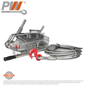 Prowinch Lever Wire Rope Puller Hoist 7040 Lbs 65 Ft Wire Rope