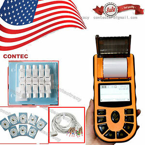 Us Portable Hand held Single Channel 12 Leads Ecg ekg Monitor with Printer sw ce