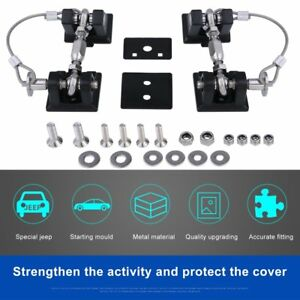 2pcs Car Anti theft Security Engine Hood Lock For Jeep For Wrangler 2007 2017