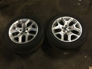 15 16 17 Jeep Renegade Wheel Rim Alloy 17 And Tire 2pcs Oem D10 7k