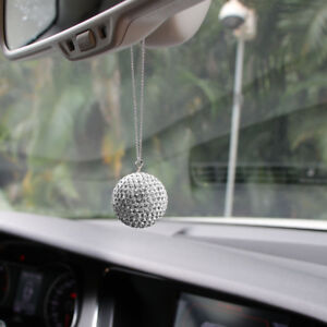 Crystal Car Rearview Mirror Pendant Decor Accessorie S Ball Hanging Ornament