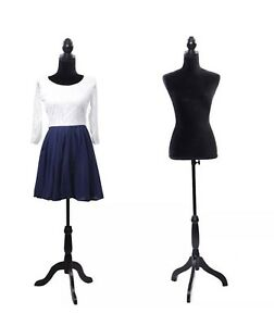 Female Mannequin Torso Clothing Clothes Dress Form Display W Black Tripod Stand