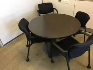 42 Round Conference Table Espresso local Pickup Only