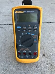 Fluke 787 W case And Several Sets Of Leads