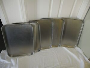 Polar Ware 1520 Stainless Steel Oblong Instrument Drying Tray Sets Of 5 Used