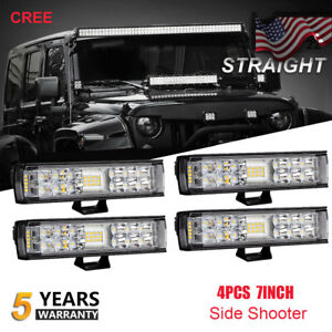 4x 6inch 400w Cree Led Work Light Bar Spot flood Offroad Fog Jeep Truck 4wd 60w