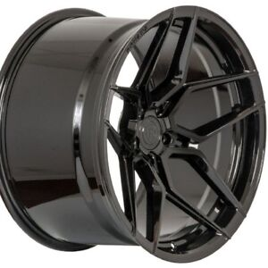 19 Staggered Rohana Rfx11 19x8 5 19x11 Black Concave Wheels Rims Forged
