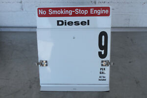Diesel Fuel Dispenser Price Sign Metal New