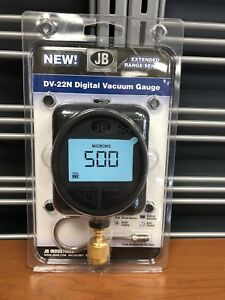 Jb Industries Dv 22n Digital Micron Vacuum Gauge Brand New