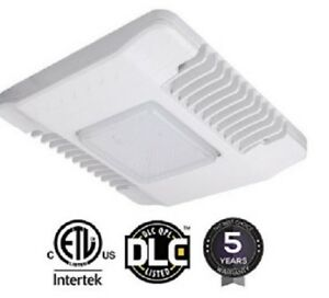 150w Led Gas Station Canopy Light 5700k Drop Lens Ul dlc 5 Years Free Shipping