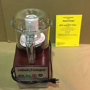 Robot Coupe R2b Clr Commercial Cutter Mixer 3 quart Clear Polycarbonate Bowl
