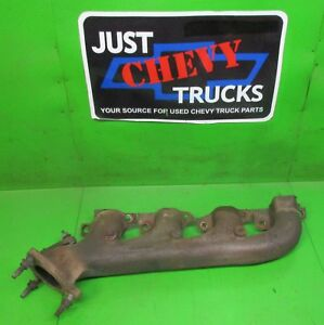 8 1 496 Chevy Gmc Rh Passengers Side Exhaust Manifold W out Air Tubes 01 To 03