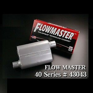 Flowmaster 43043 40 Series Original Muffler 3 In And 3 Out 19 Long Siver