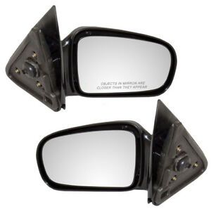 95 05 Chevy Cavalier Pontiac Sunfire Coupe Set Side View Manual Smooth Mirrors