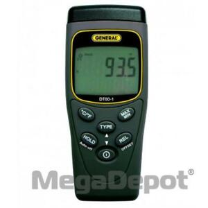 General Tools Dt80 1 One channel Types k And j Thermocouple Thermometer