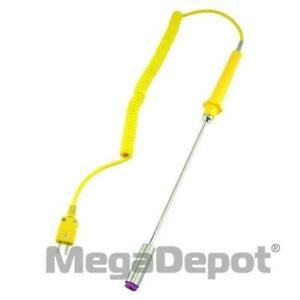 General Tools Tpk03 Type k Surface Thermocouple Probe With Extendable Cord