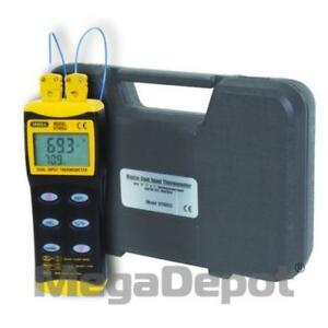 General Tools Dt8856 Digital Thermocouple Thermometer With Dual Input