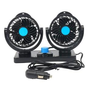 Car Air Conditioner Cooling Fan Dash Mount 360 Rotation 2 Gears 12v