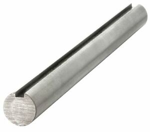 304 Stainless Steel Keyed Shaft 1 Dia X 50 1 4 X 1 8 Keyway Percision Ground