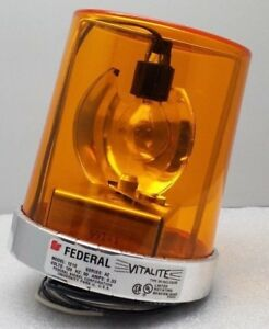 New Federal Signal Vitalite 121s 120a Rotating Amber Beacon Light 120vac