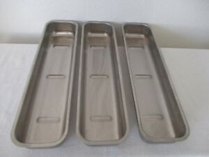 Polar Ware 170 Instrument Trays Stainless Steel Set Of 3 Trays Used